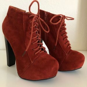 Charlotte Russe Lace up bootie